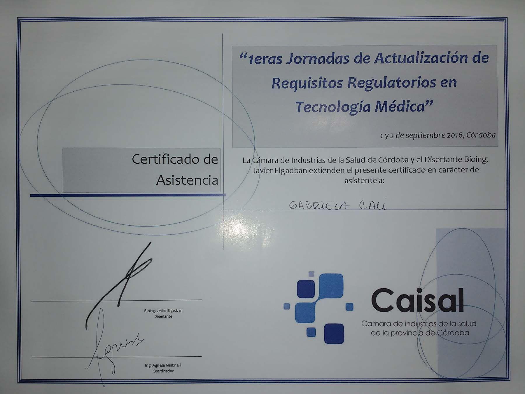 Participación en las 1ras Jornadas de Actualización de Req. Regulatorios
